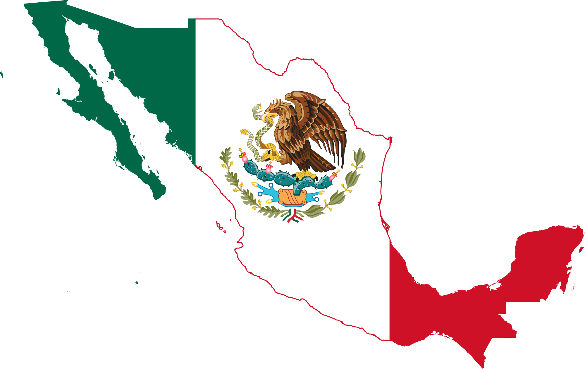 Mapa mexico png. File flag map svg