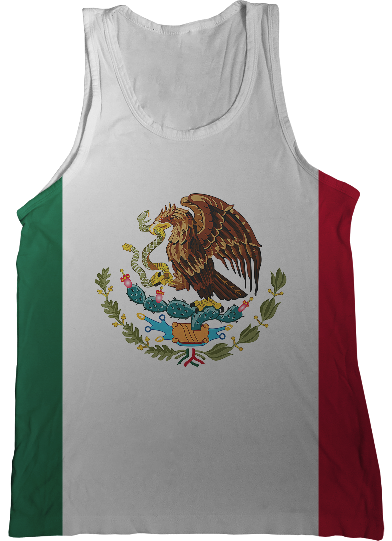 Flag of mexico png. Tank top nation tanks