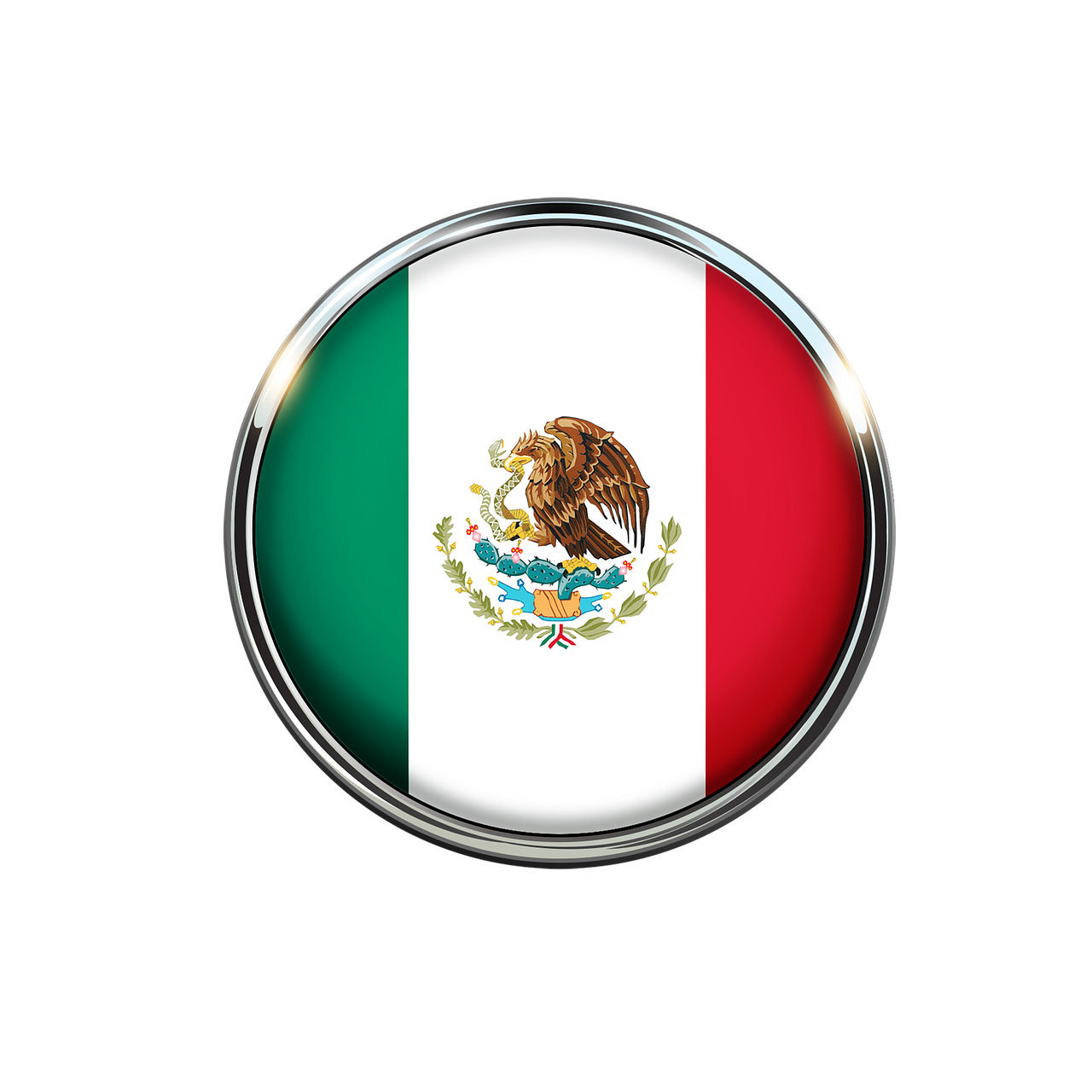 Flag of mexico png. Circle mexican image picpng