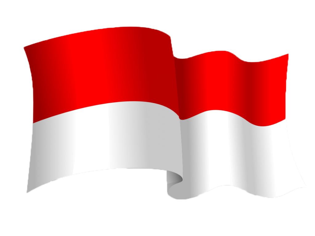 Flag png. Indonesia hd vector clipart