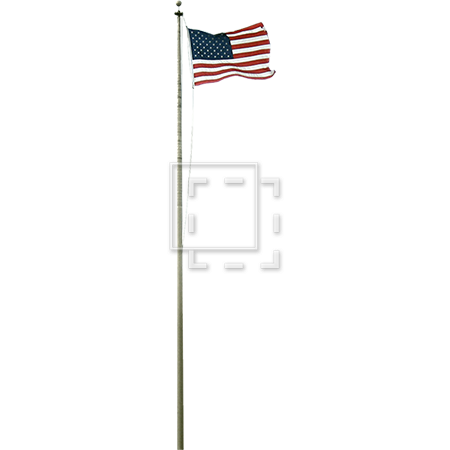 Flag pole png. Cutout american and flagpole