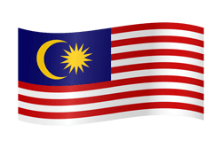 Bunting vector flag. Malaysia country flags free