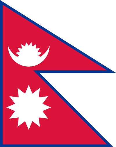 Nepal vector country flags. Flag clipart printable svg free library