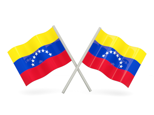 Flag venezuela png. Two wavy flags illustration