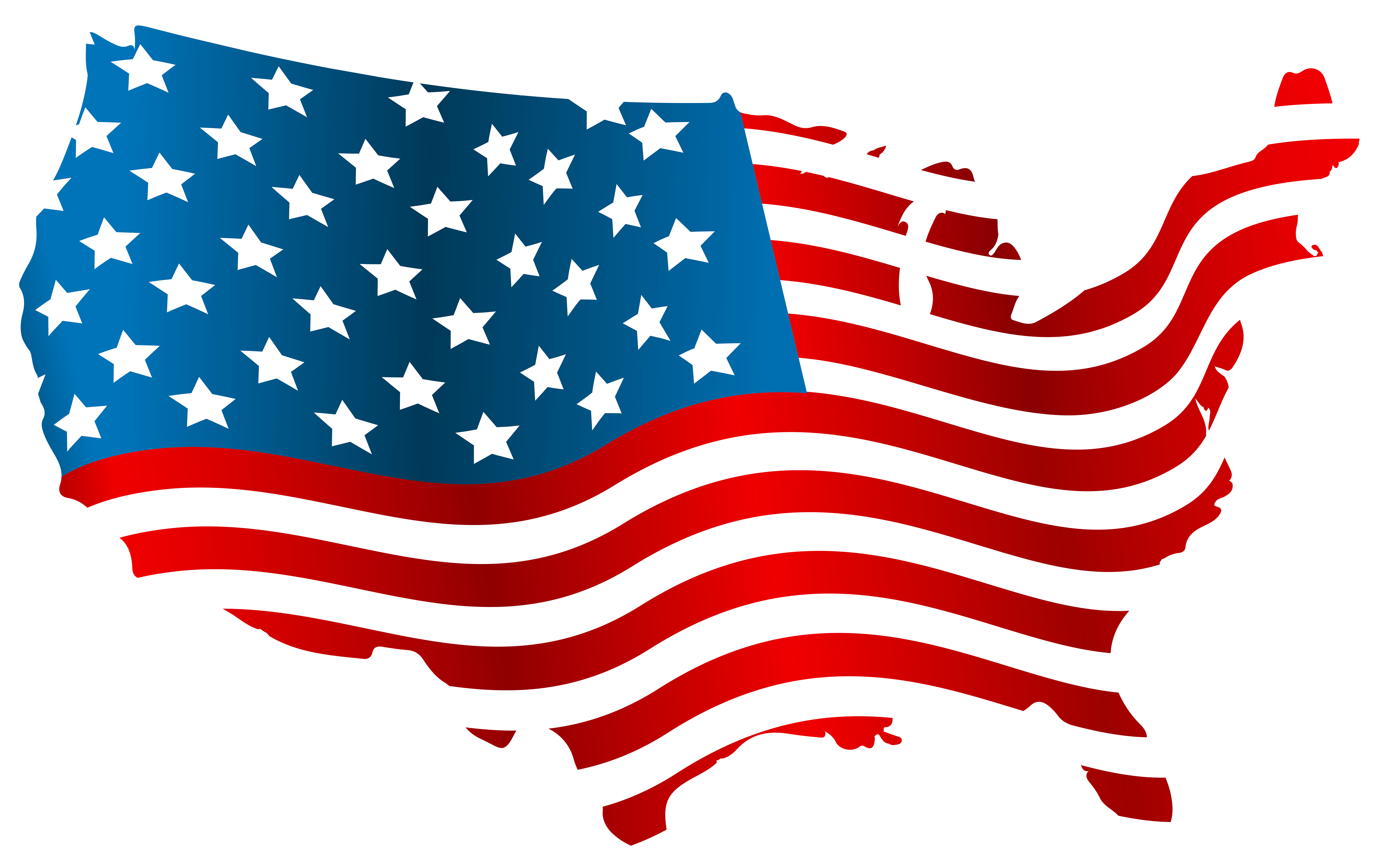 Flag map. Flag of the united