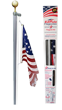 Flagpole clip light pole. The classic flag made