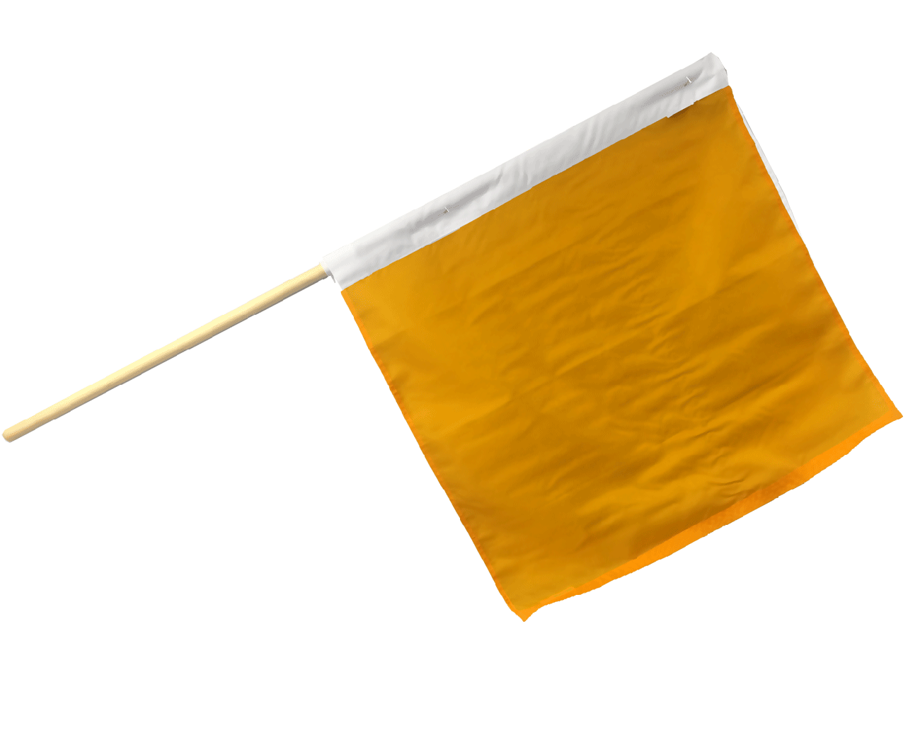 Flagpole clip motorcycle. Racing caution flag