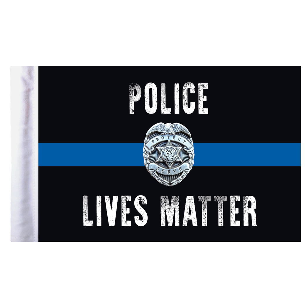 Flagpole clip motorcycle. Police lives matter flag