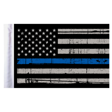 Flagpole clip motorcycle. Thin blue line american