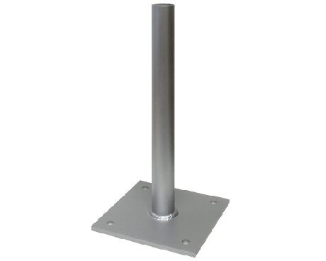 Flagpole clip mount. Wall or post hardware