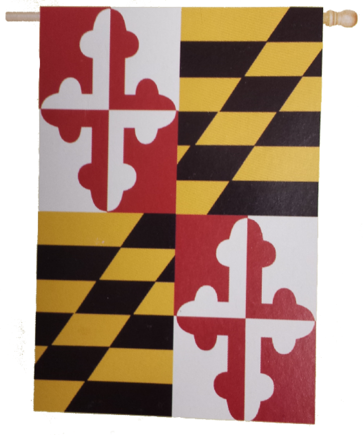 Maryland flag png. State of banner house
