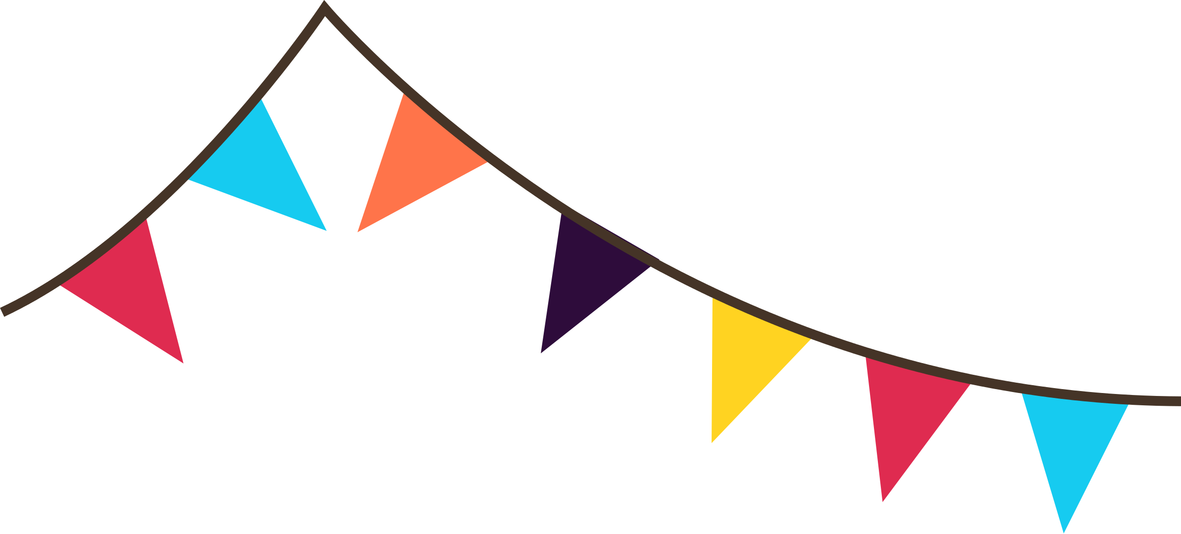 Flags banner png. Triangle flag transparent images