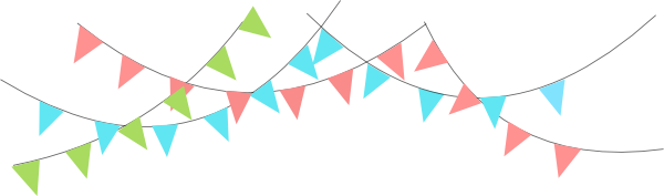 Flags clipart celebration. Birthday flag png transparent