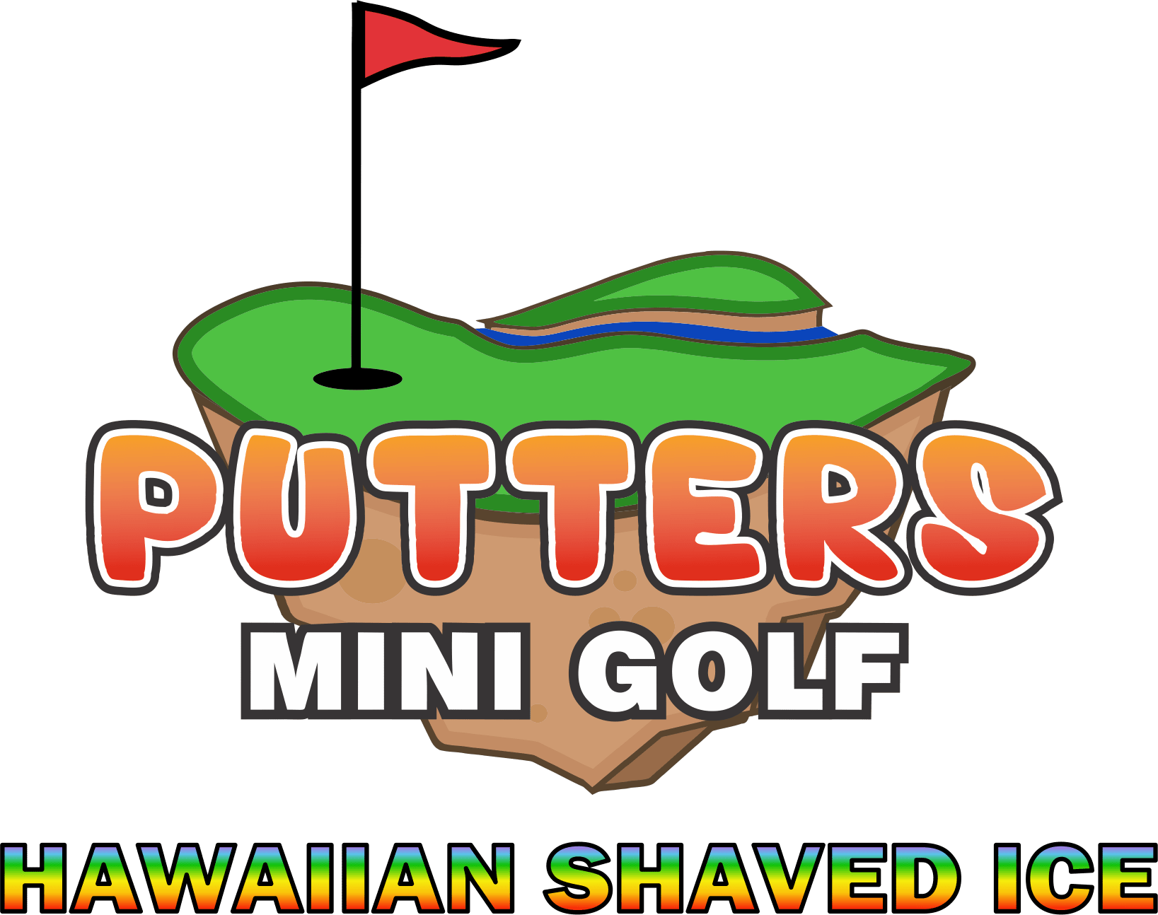 Flags clipart mini golf. Hawaiian shaved ice putters
