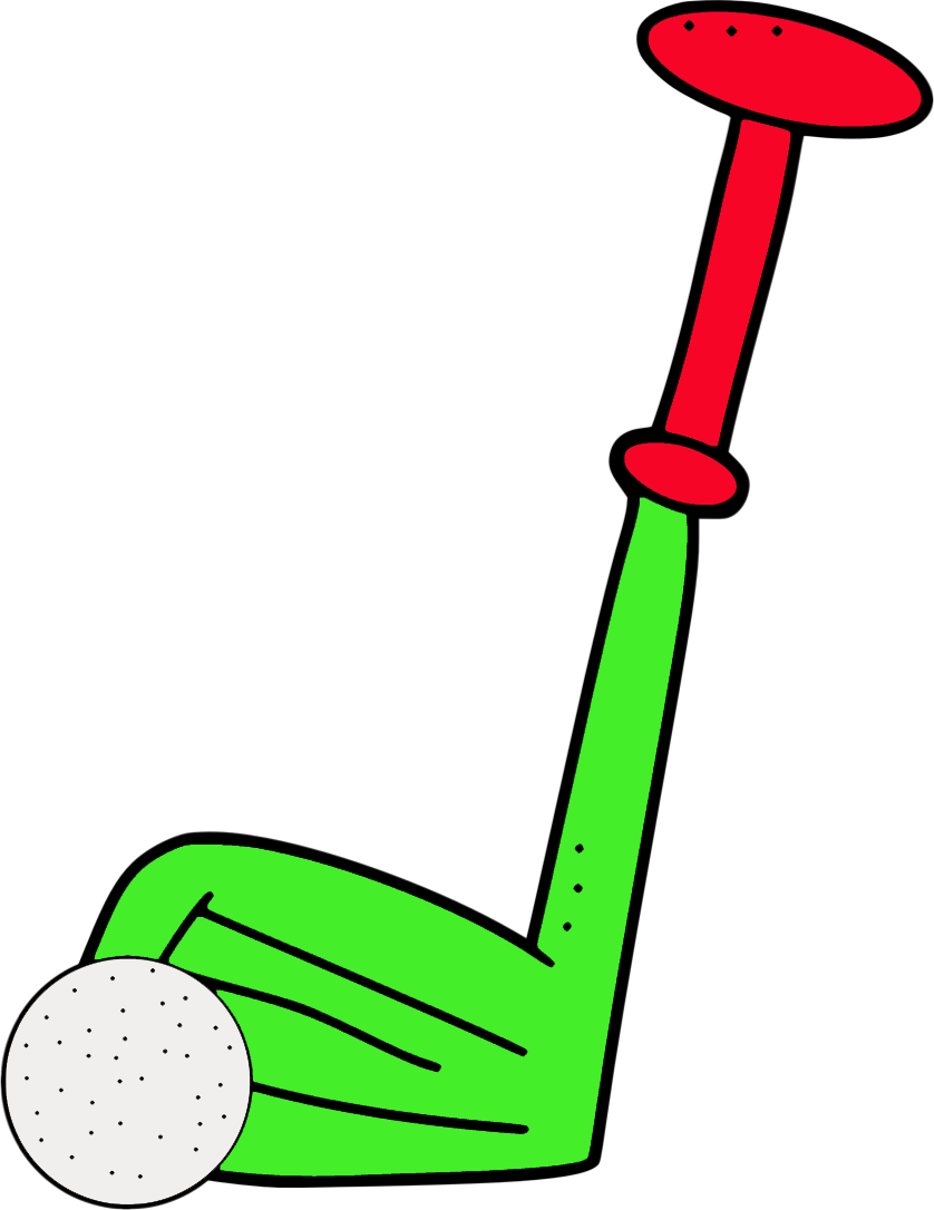 golfball vector golf pin