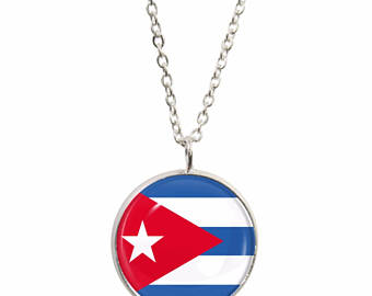Flags clipart pendant. Cuba flag etsy and