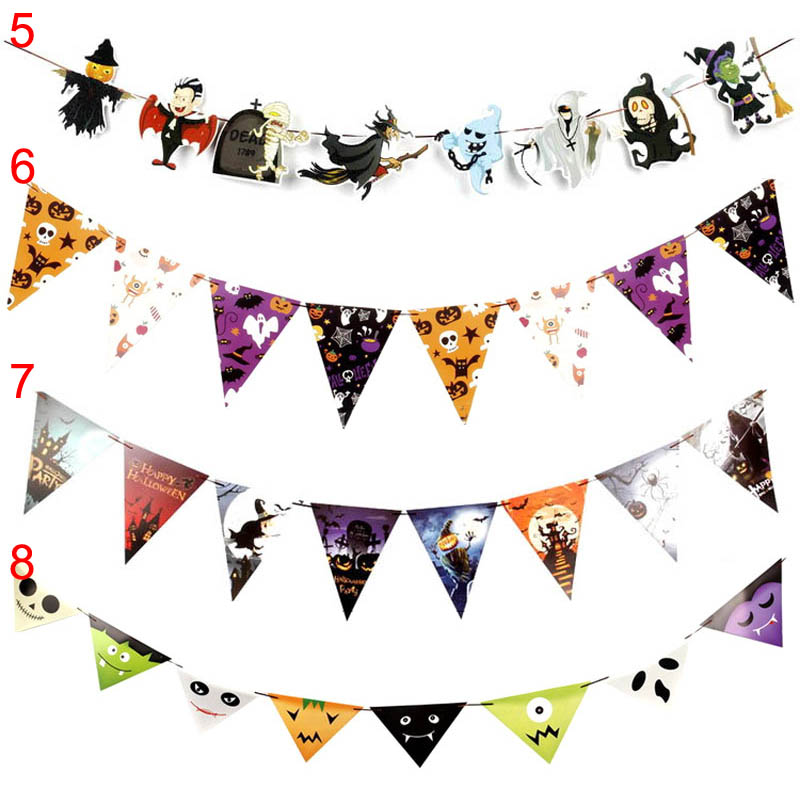 Flags clipart pendant. Halloween home outdoor party