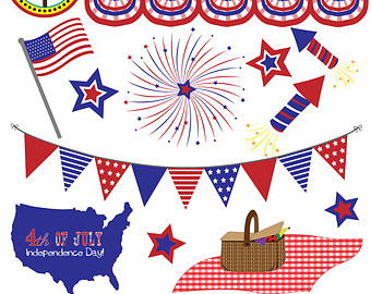Flags clipart pendant. Etsy fourth of july
