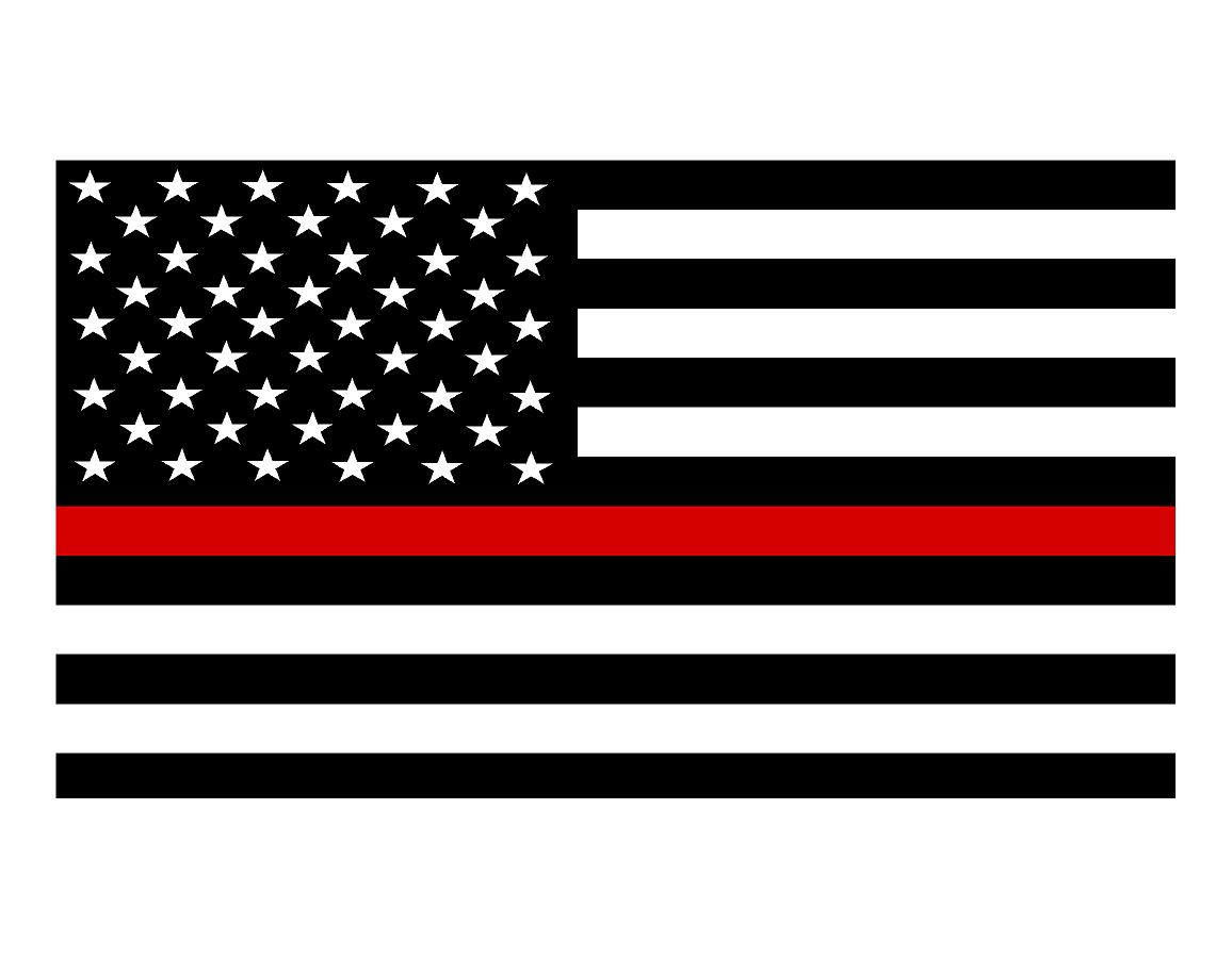 Flags clipart thin red line. Flag decal svi graphics