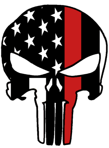Flags clipart thin red line. Punisher drinkware firerescuestore com