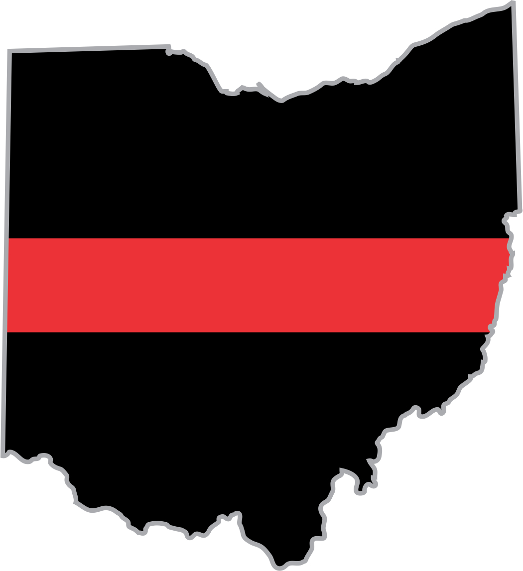 Flags clipart thin red line. Ohio firefighter decal
