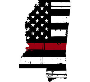 Flags clipart thin red line. Decal state of mississippi