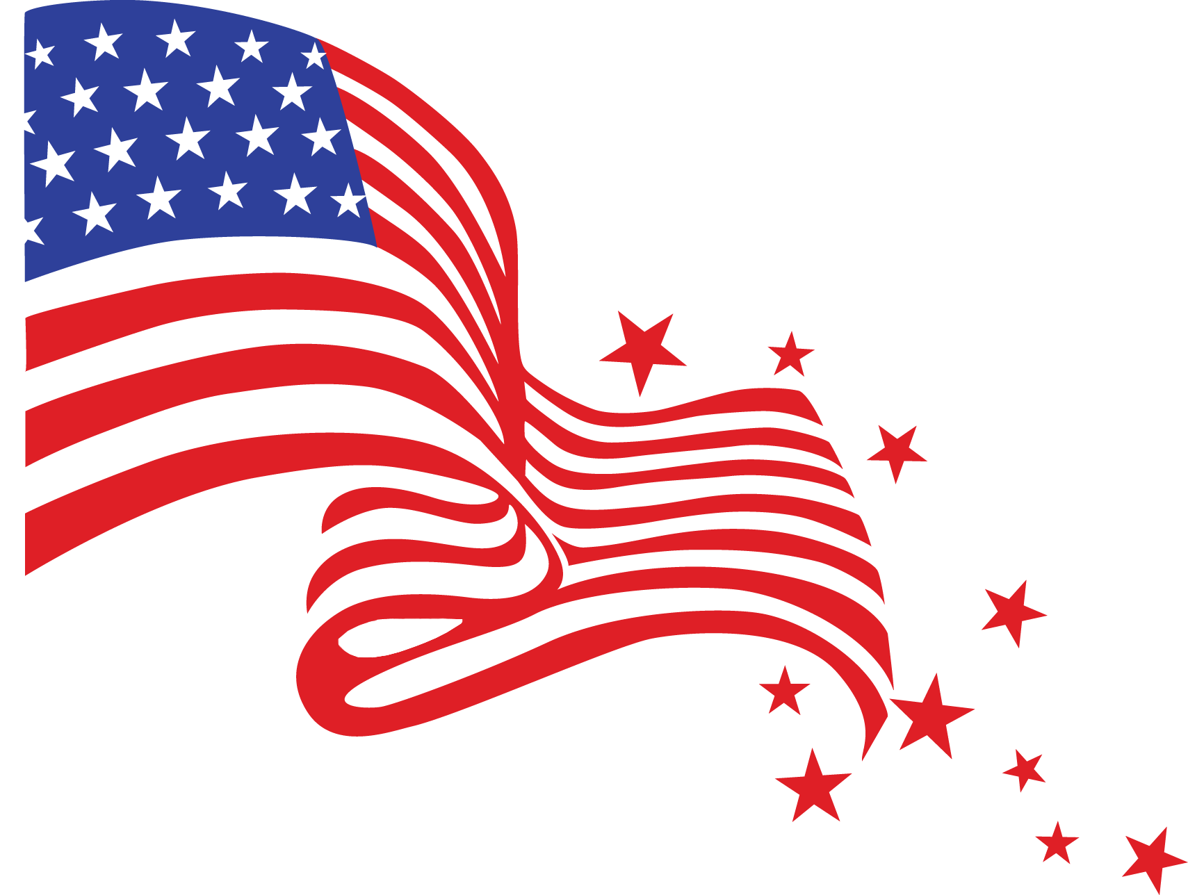 Flags clipart. Transparent usa flag png
