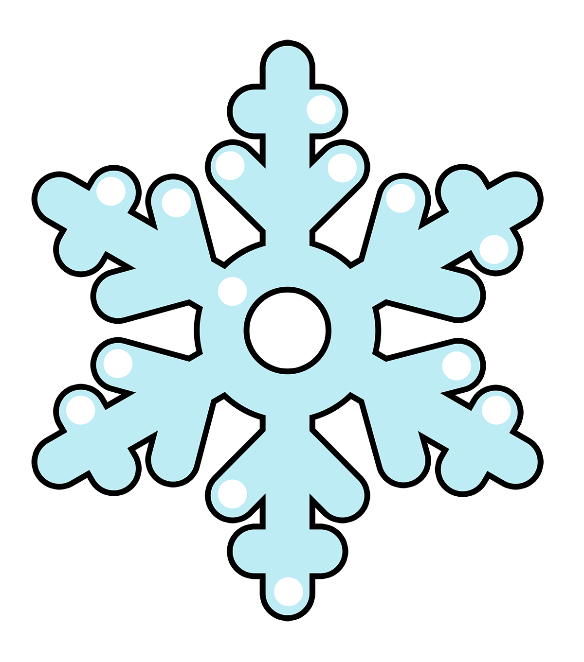 Snowflakes clipart cute. Free snow flake cliparts