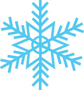 Flake clipart. Free snow image weather
