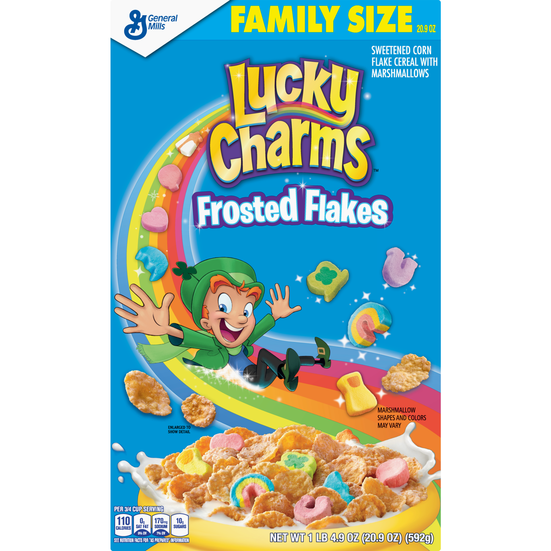 Flake clipart frosted flakes. Pack lucky charms