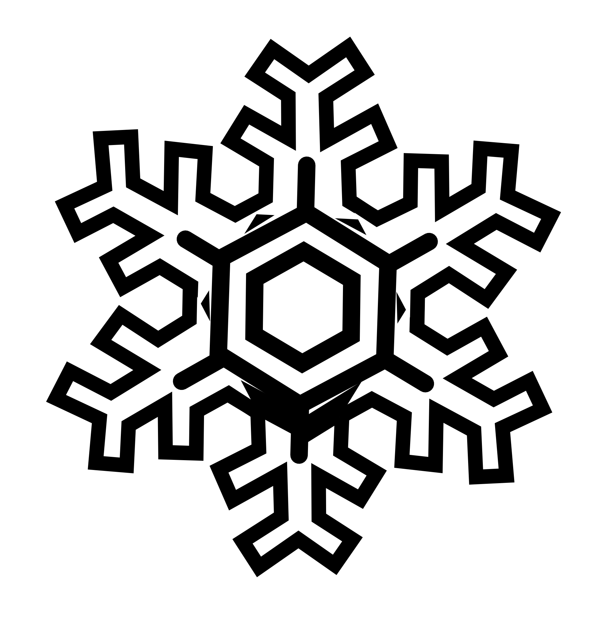 Snowflakes clipart black and white. Snow flake clip art