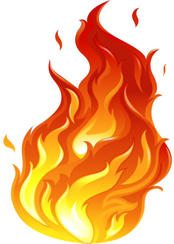 Vectorial drawing poster. Flame png clip arts