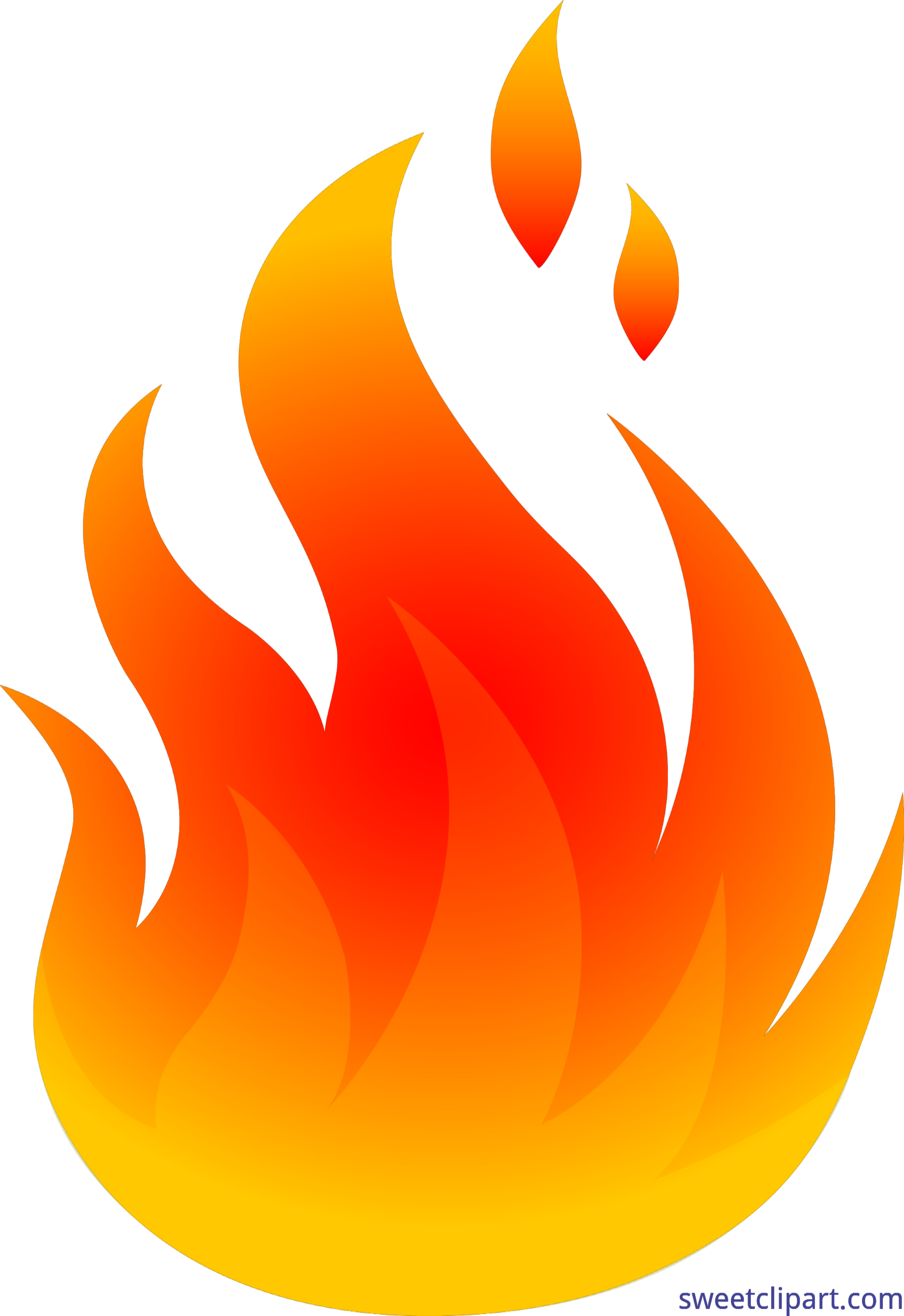 Fire logo png. Red and yellow clip