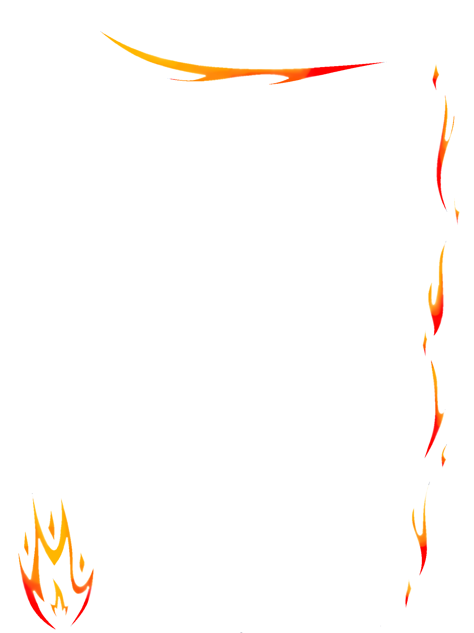 Fire border png. Flames vector images