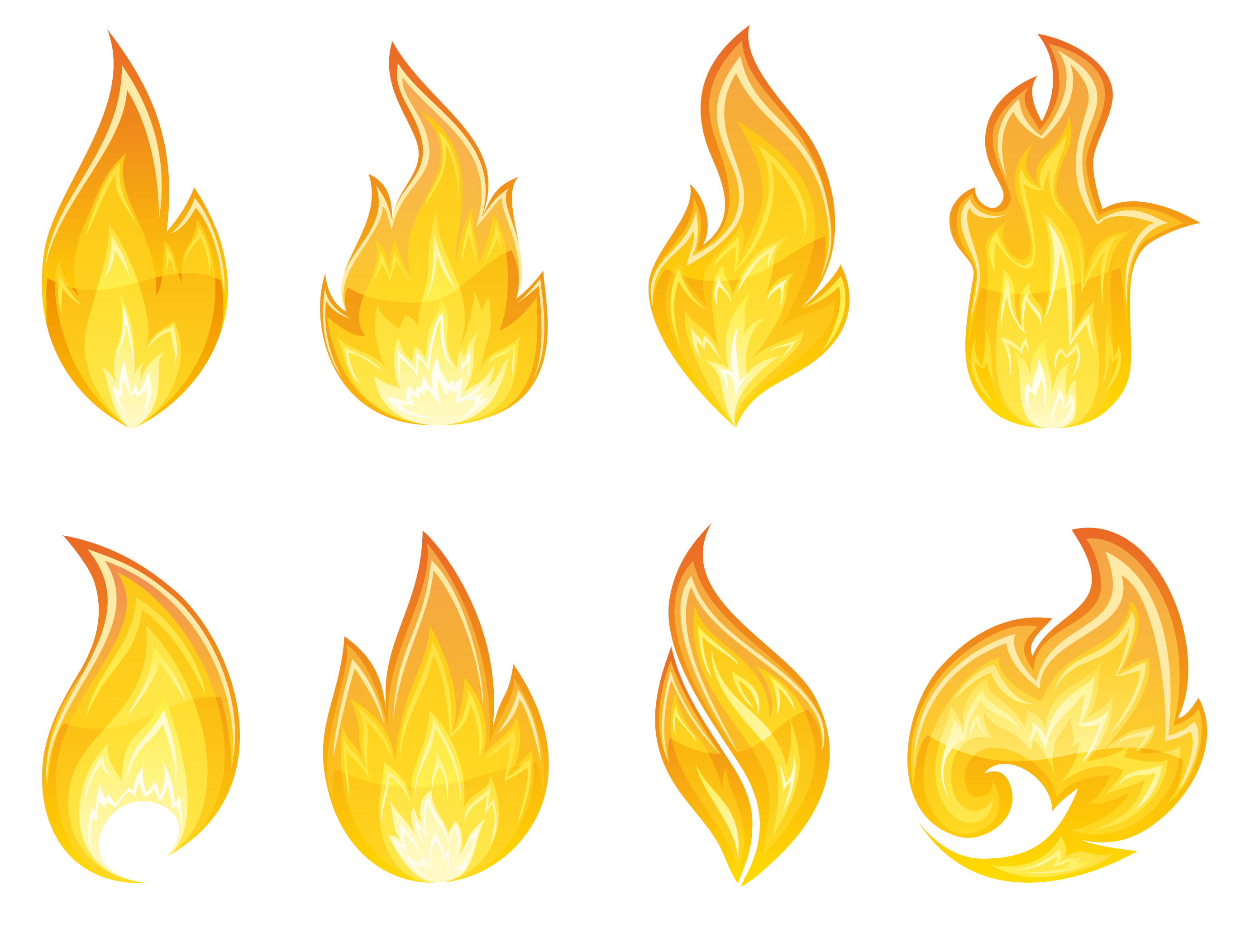 Flame border png. Transparent set clipart gallery
