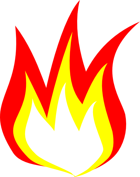 Flame cartoon png. Flames clipart