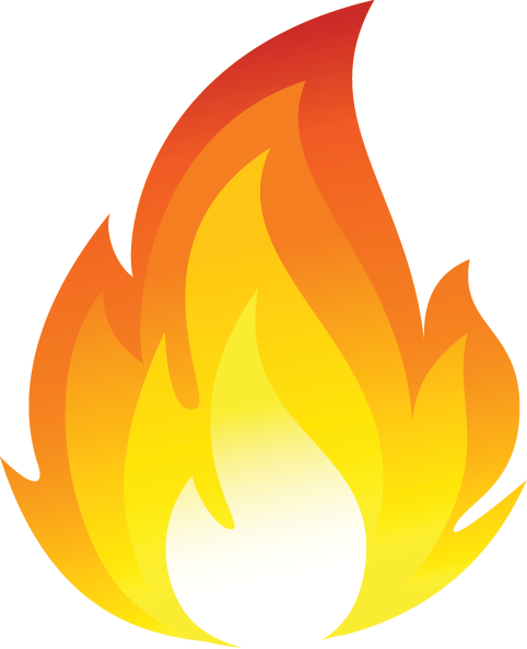 Sets with flame. Png to vector illustrator image royalty free