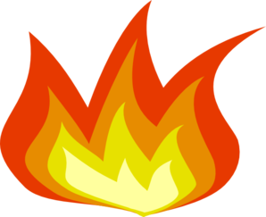 Flame clipart small flame.