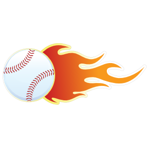 Flame clipart baseball. With flames sticker