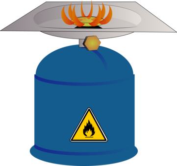 Gas clipart single stove. Bunsen burner teclu flame