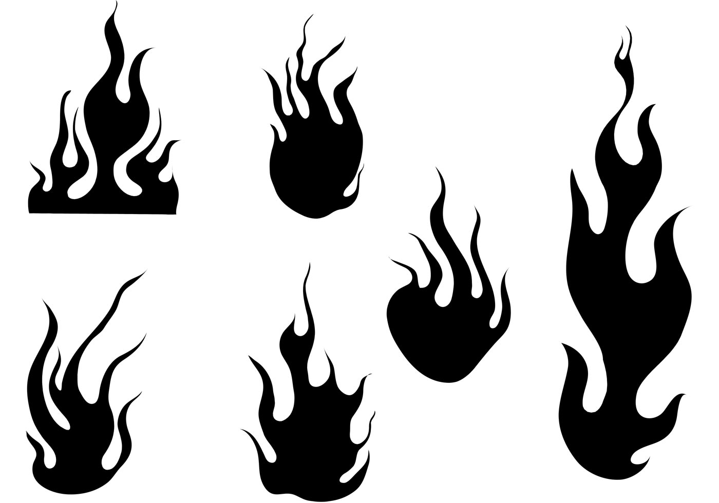 Flame clipart silhouette. Fire at getdrawings com