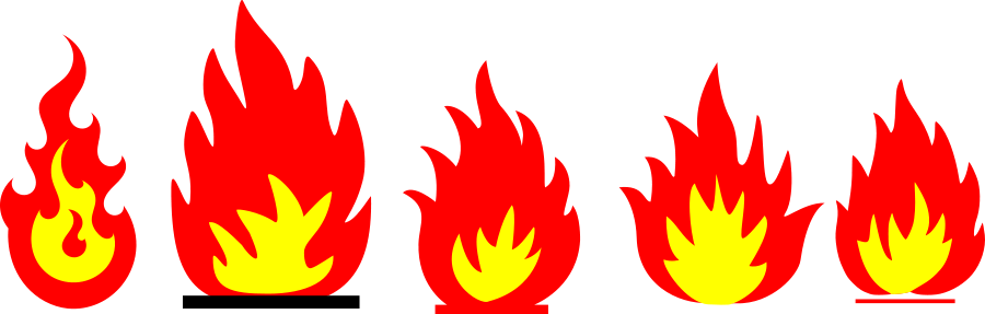 Flame clipart small flame. Free fire flames pictures