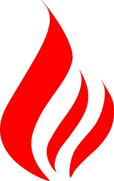 Red flame png. Fire flames clipart black