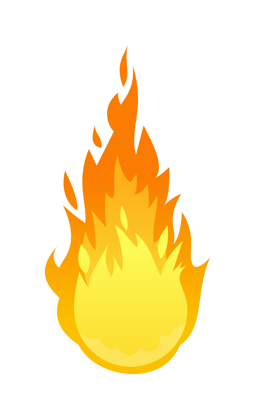 Fire flames png transparent. Vector campfire white background clip art download