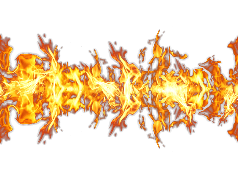 Flame effect png. Seamless fire isolated objects