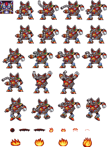 Flame mammoth sprite png