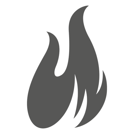 Flame silhouette png. Fire icon transparent svg