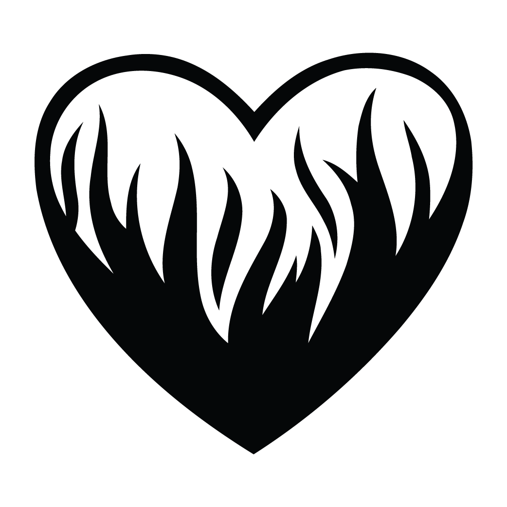 Flaming heart png. Decal photomal com