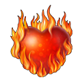 Flaming heart png. Knights and brides wiki