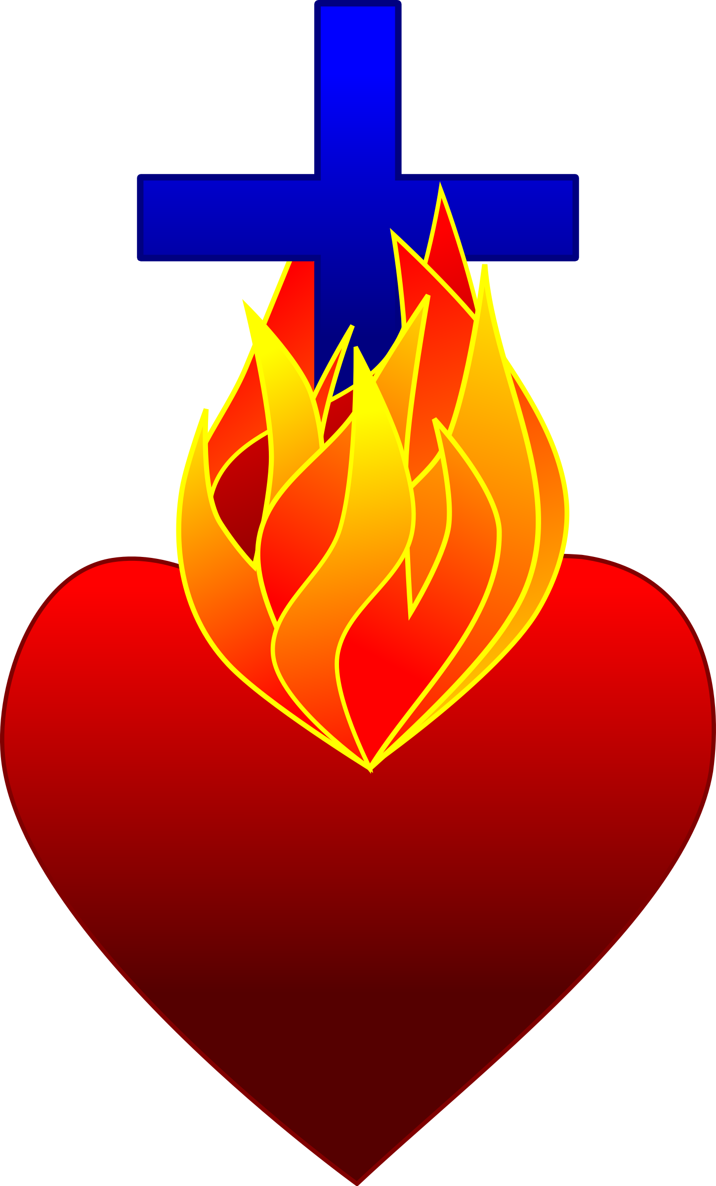 Sacred heart png. Free flame cliparts download